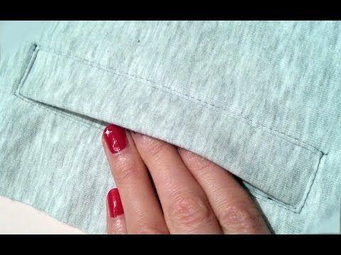 DIY Sewing course how to sew pocket with flap ✂ Kurs szycia na maszynie  kieszeń z patką i ekspresem - YouTube