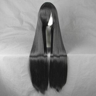 Лелуш ля ви британия ли Xingke аниме косплей ну вечеринку парик мода 100 см длинные черные волосы + бесплатная парик кепка