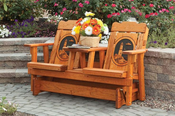 Amish Pine Wood Creative Classic Outdoor Settee