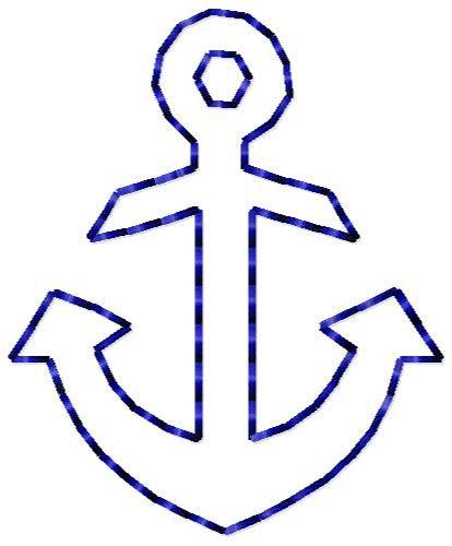 Anchor Outline Mini Design. $2.00, via Etsy.