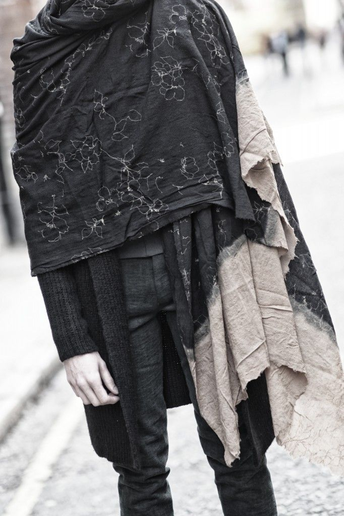 uma wang | Fashion, passion & artJust love all aspects of this outfit. Layers, colours, textures and embellishment