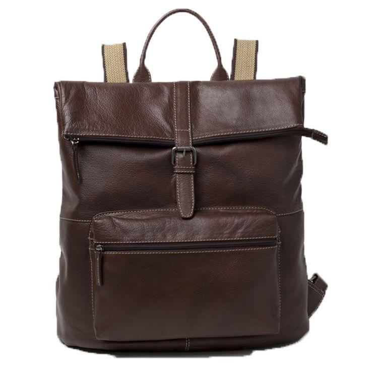Cobb & Co Rugged Leather RFID Blocking Rucksack: Brown - $380.00 #backpack #leatherbag #rfidblockingbackpack