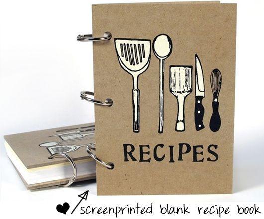 Recipe Book Utensils Cover 4 In X 6 Size Door BethBee