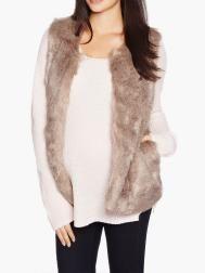 Faux-Fur Maternity Vest | Shop Online at Thyme Maternity