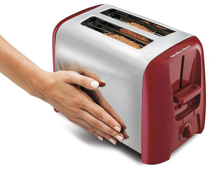 Red Toaster 2 Slice New Kitchen Automatic Bread Oven Electric Tool Appliance  #HamiltonBeach