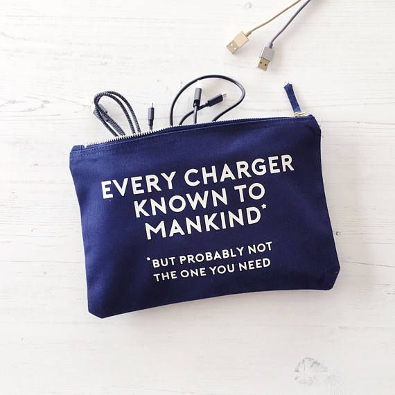 Charger Bag Birthday Gift Cable Storage gift for him gift