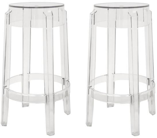 Wholesale Interiors PC-502B-clear Bettino Clear Acrylic Counter Stool - Set of 2