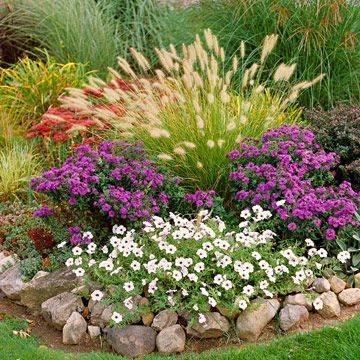 17 best images about fall flower beds for ohio on for Ornamental grass bed design