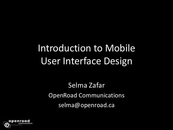 Mobile UI Design – User Centered Design and UI Best Practices