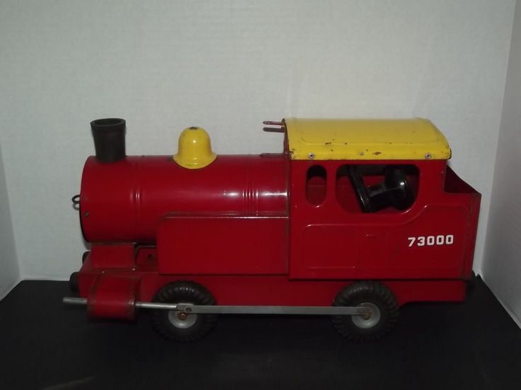 Rare Vintage Tri ang 73000 Puff Puff Pressed Steel Locomotive Toy Train England