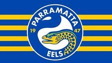 Parramatta Eels Edible Wafer Image Birthday Cake Decoration Topper