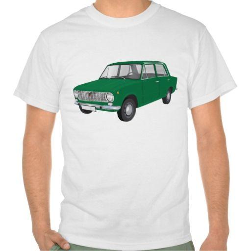 FIAT 124 Berlina green  #fiat124 #60s #automobile #automobiles #tshirt #tshirts #car #italy #italia