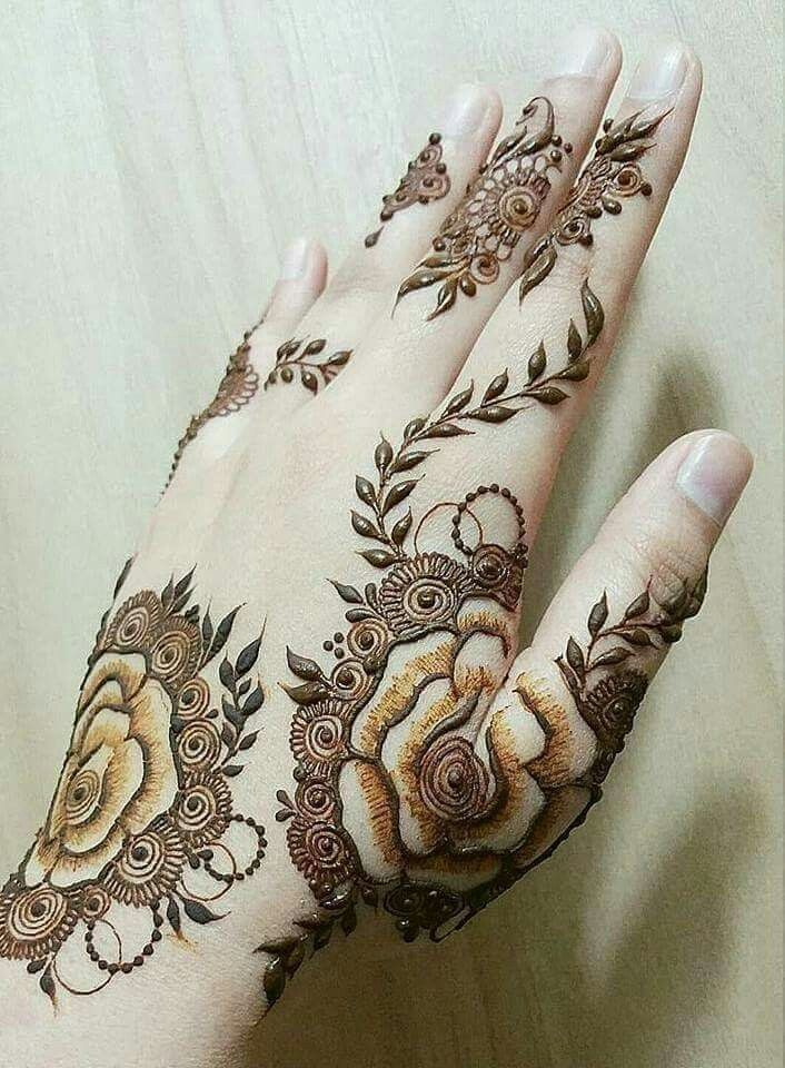 Beautiful Rose Design For Mehndi Lovers Henna Designs Hand Back Hand Mehndi Designs Mehndi Designs