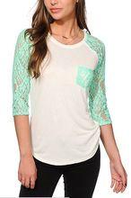 3/4 sleeve raglan t-shirt for women ladies regular fit  best buy follow this link http://shopingayo.space