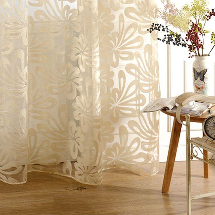 estilo europeo hollow jacquard de flores de diseo tulle telas cortinas para balcnchina