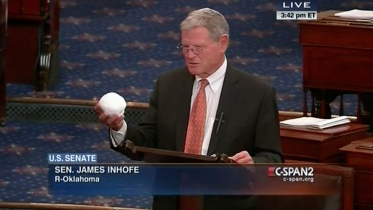 Watch Jim Inhofe Throw a Snowball on The Senate Floor - NationalJournal.com - He has disproven Climate Change once and for all! ;)