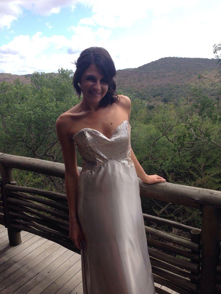 The Beautiful Kim Bolus in her Champaign Bridesmaid dress