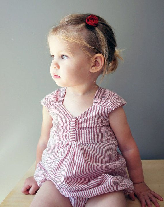 Cora Sweetheart Bubble Romper  Infant and Toddler by threadculture, $36.00