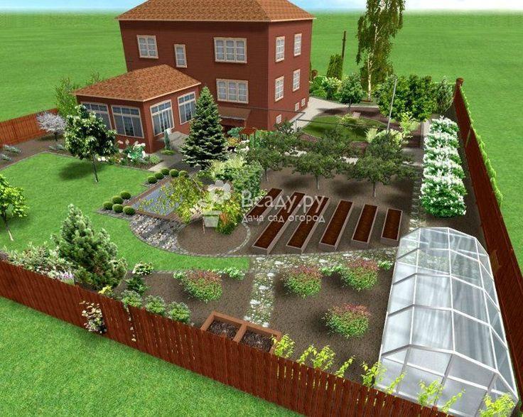 Приусадебный участок: планировка сада и огорода в компьютерной программе