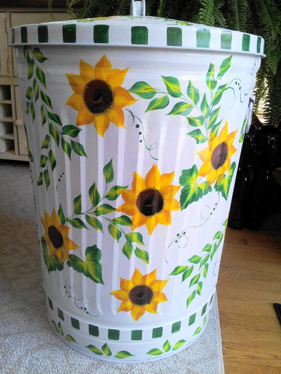 30 Gallon Decorative Hand Painted  by krystasinthepointe on Etsy, $129.00
