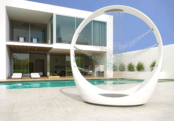 Bathroom, Modern Outdoor Shower Design For Pool: Modern Outdoor Shower as the