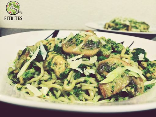 Super low-carb pasta with parsley pesto! These noodles are made from konjac, a low calorie vegetable but are higher in protein. You will be fulfilled with no carb/calorie effect on your waistline!  #lowcarb #healthy #eatforabs #healthyfoodideas #healthylifestyle #foodisfuel #cleaneats #absaremadeinthekitchen #healthyinspiration #strongnotskinny #eathealthy #fitness #healthysnack #healthyfoodshare #instafit #motivation #weightloss #fitnessgirls #gezondeten #lekkereten