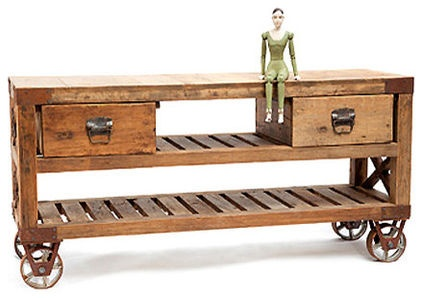 eclectic kitchen islands and kitchen carts by Hudson Goods