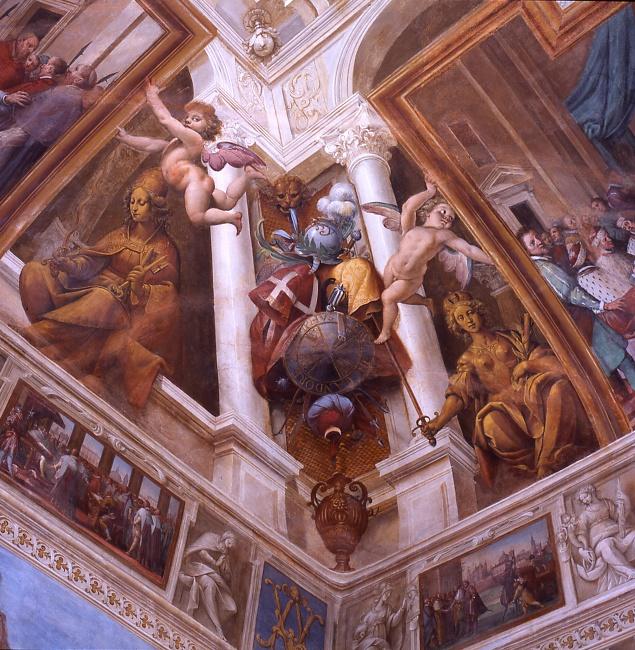 The Incoronation Room. Isidoro Bianchi's frescoes Castello di Rivoli Museo d'Arte Contemporanea Italia