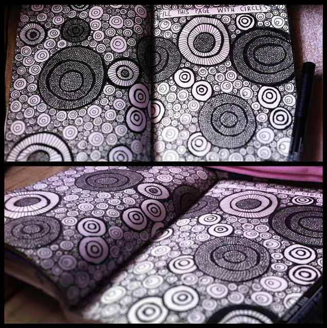 wreck this journal: fill this page with circles doodle   Flickr - Photo Sharing!