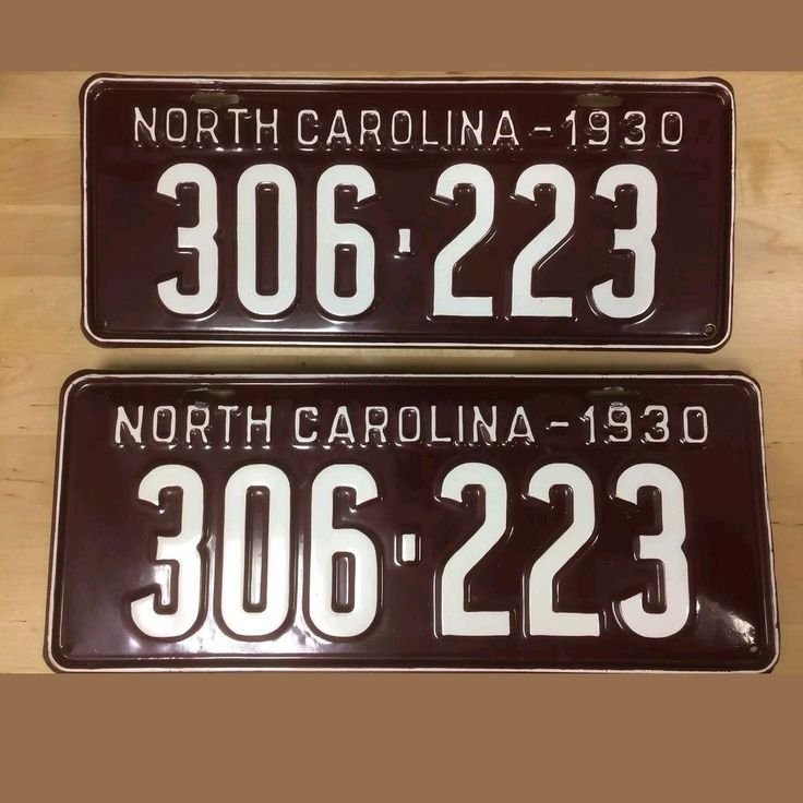 Original, Restored matching pair of 1930 North Carolina  LICENSE PLATES