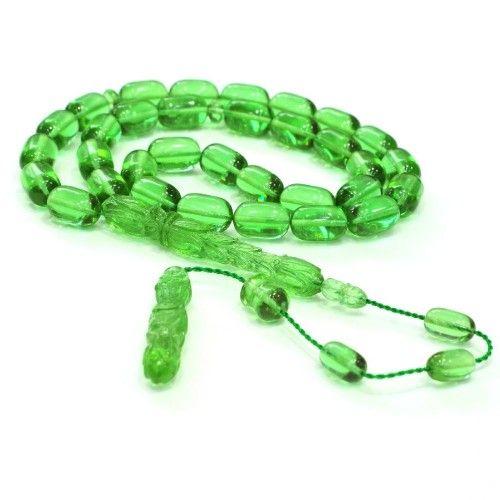 Bakalit Kehribarı Yeşil Kapsül 8x13mm Tesbih