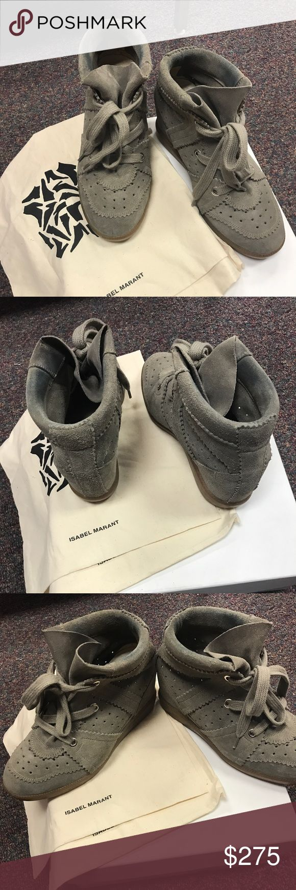 Isabel marant bobby sneakers 39 8 Great condition. Does have dark jean staining. Hardly noticeable when worn. Comes with box and dust bags. Please note this box is not for these shoes but another pair of my Isabel marant shoes. Isabel Marant Shoes Sneakers