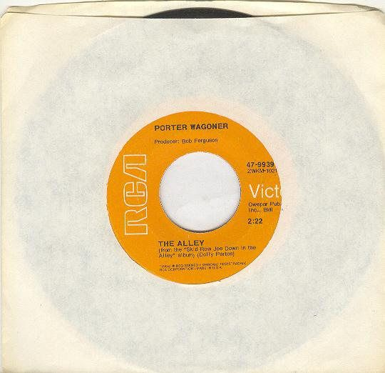 Porter Wagoner 45 rpm The Alley