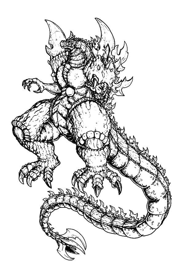 Read Moremonster Godzilla Coloring Pages With Images Witch