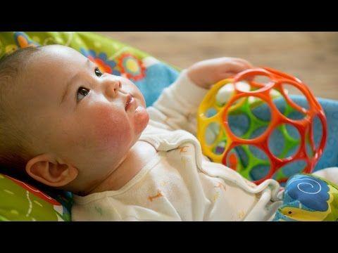 Babys spielerisch fördern - Die besten Übungen - 2. Vierteljahr (4 bis 6 Monate) - YouTube