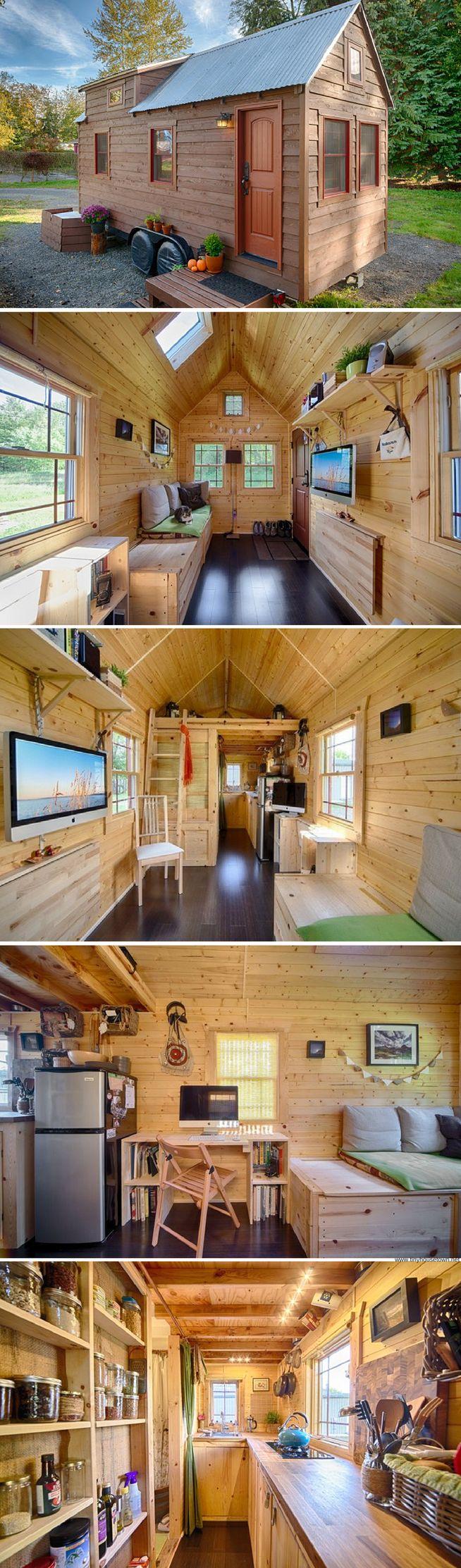 Bachelor 484 sq ft log home kit log cabin kit mountain ridge - The Tach House A 140 Sq Ft Tiny House In Everett Wa
