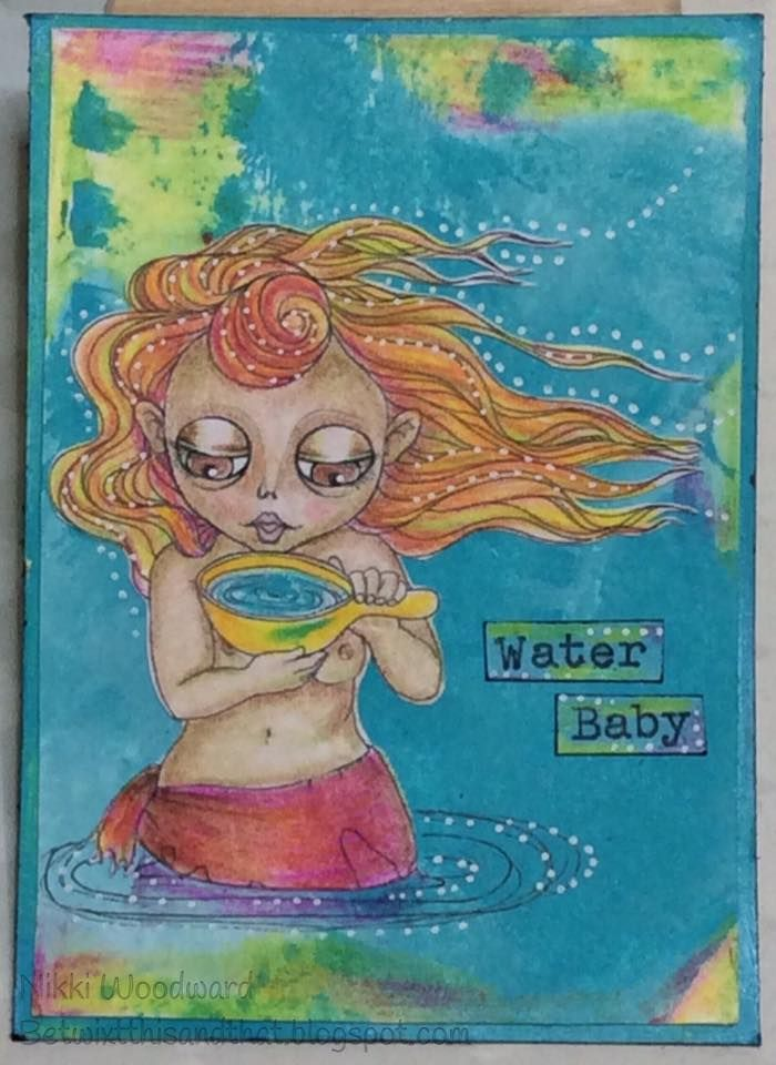 ATC for a 'Water' challenge at Wicked Wednesday. Image from The East Wind.