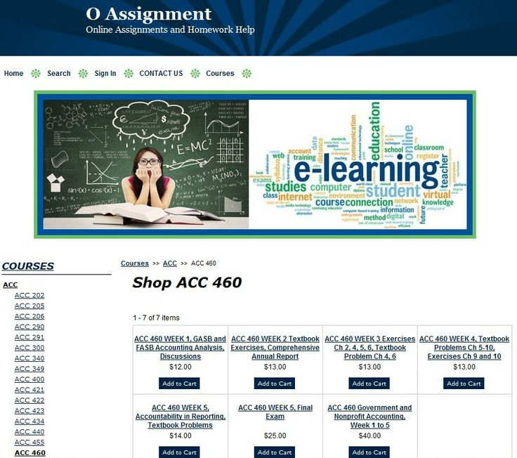 ACC 460 Government and Nonprofit Accounting, Week 1 to 5