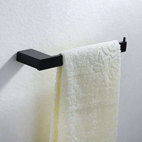 Handtuchhalter Dusche Ohne Bohren : Homelody? Elegant Schwarz Badetuchstange Handtuchstange H… bathroom
