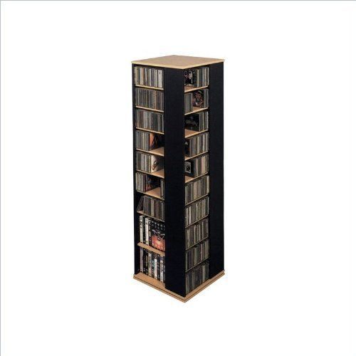 Leslie Dame CD 1040CHY Revolving CD / DVD Storage Tower In Light Cherry By  Leslie