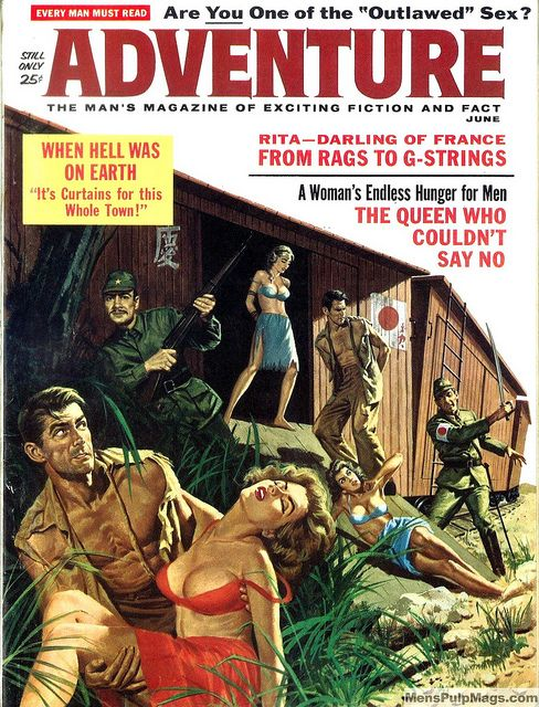 ADVENTURE, June 1962. Cover by Vic Prezio