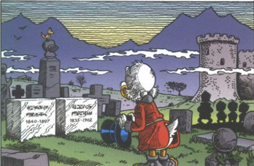 Scrooge McDuck and his parents by Don Rosa