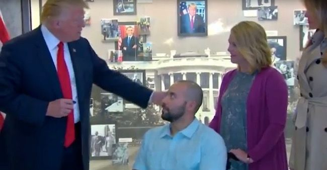 President Trump awards veteran with Purple Heart; 'nothing flashy, just full of integrity'