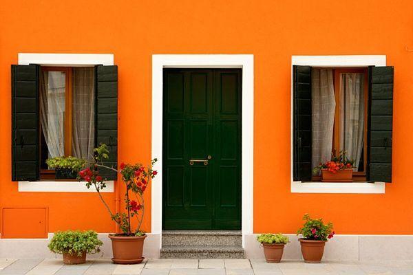 naranja casas casa fachadas colores resultado imagen