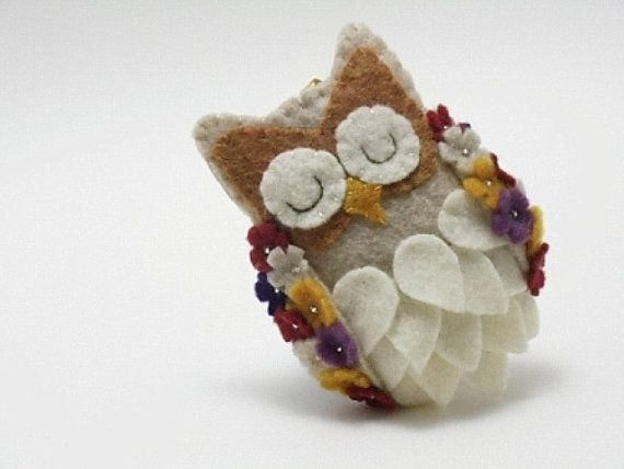Felt Owl Ornament