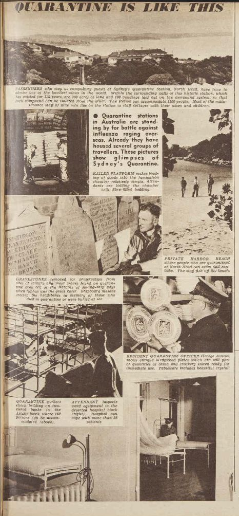 Influenza epidemic keeps the Quarantine Station busy - Women's' Weekly 24 Feb 1951