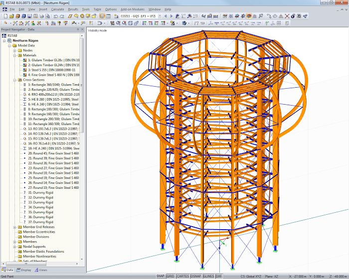 Dlubal RSTAB: Structural Frame and Truss Analysis Software