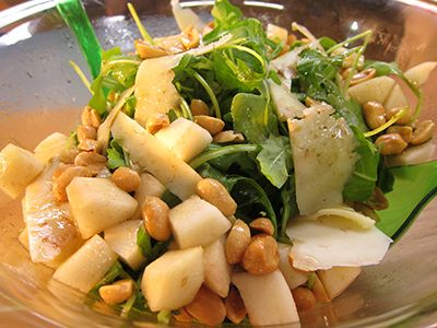 A colorful, winter salad with crispy nuts and delicious pear. An amazing and healthy dish to enjoy anytime!