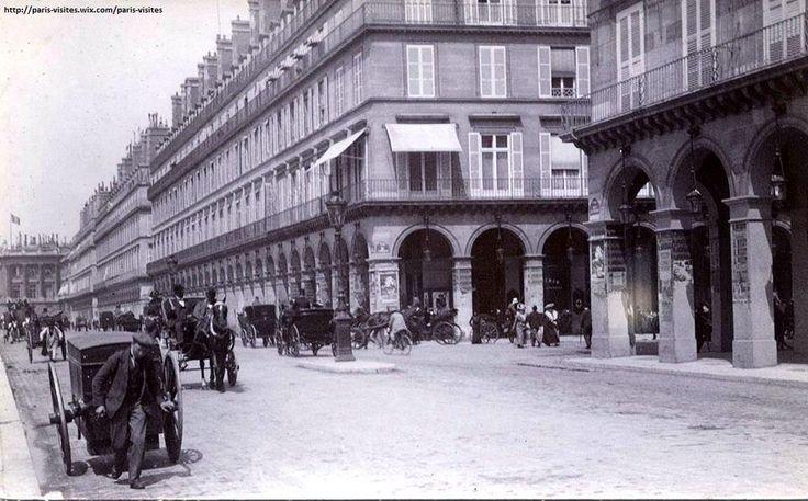 Double-sens et chevaux rue de Rivoli en 1900. Autre temps. #Paris #France #histoire #tourisme http://concorde.voila.net