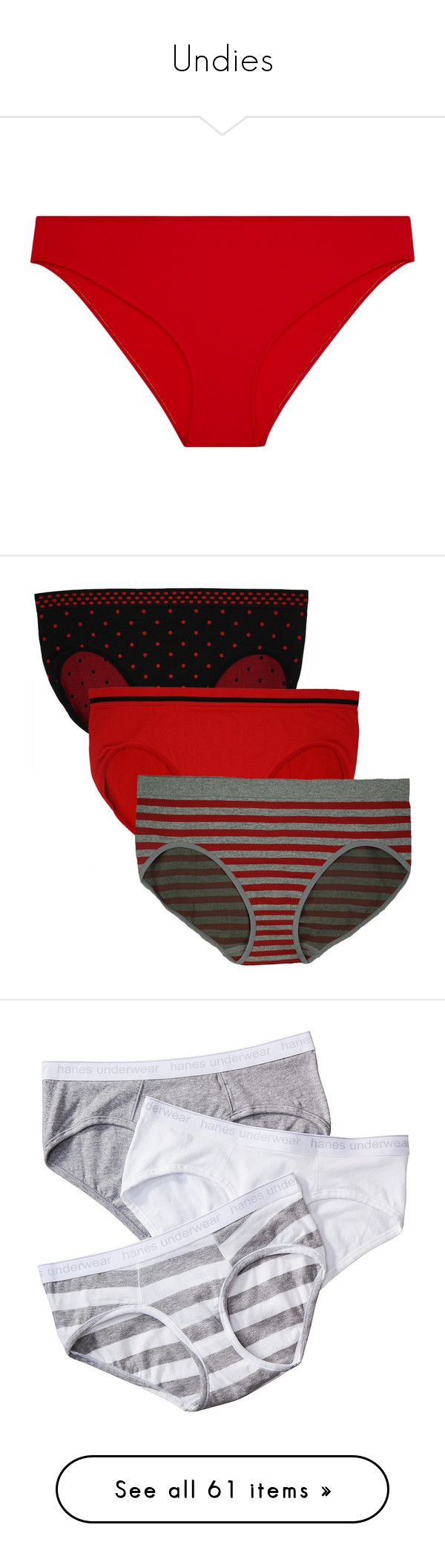"""""""Undies"""" by ashleythesm ❤ liked on Polyvore featuring plus size women's fashion, plus size clothing, plus size intimates, plus size panties, intimates, red grey stripes black dots, dotted panties, plus size bikini bottoms, plus size panty and polka dot panty"""